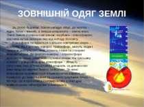 ЗОВНІШНІЙ ОДЯГ ЗЕМЛІ За своєю будовою Земля нагадує яйце, де жовток – ядро, б...
