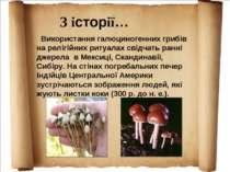 Використання галюциногенних грибів на релігійних ритуалах свідчать ранні джер...