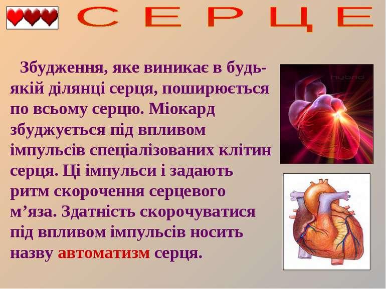 Збудження, яке виникає в будь-якій ділянці серця, поширюється по всьому серцю...