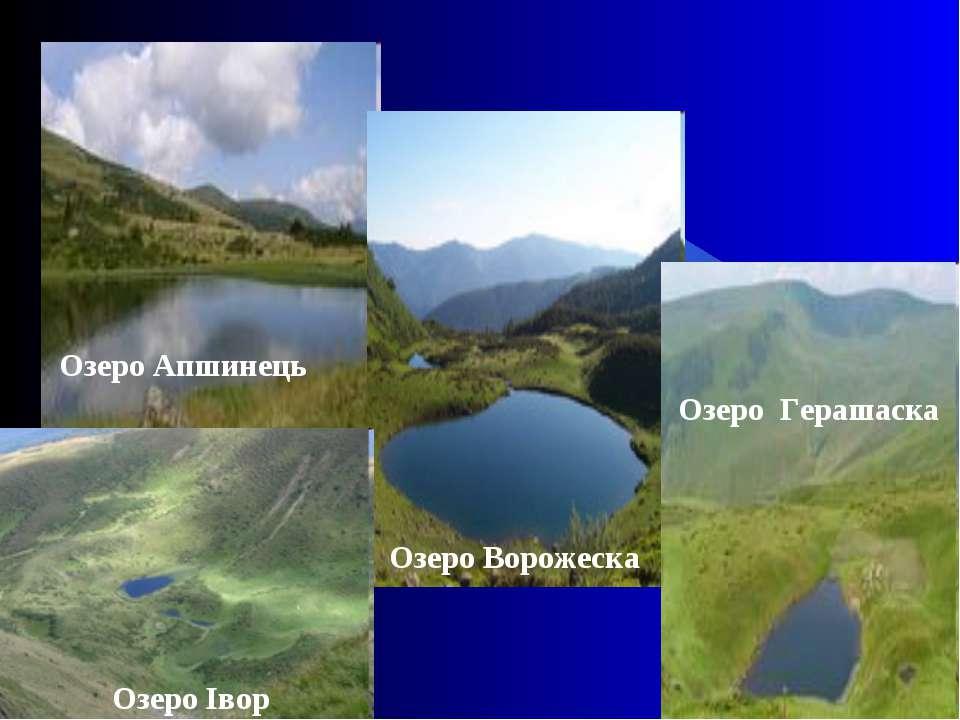 Озеро Апшинець Озеро Ворожеска Озеро Герашаска Озеро Івор