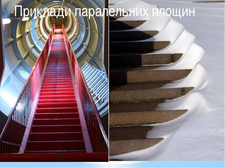 Приклади паралельних площин