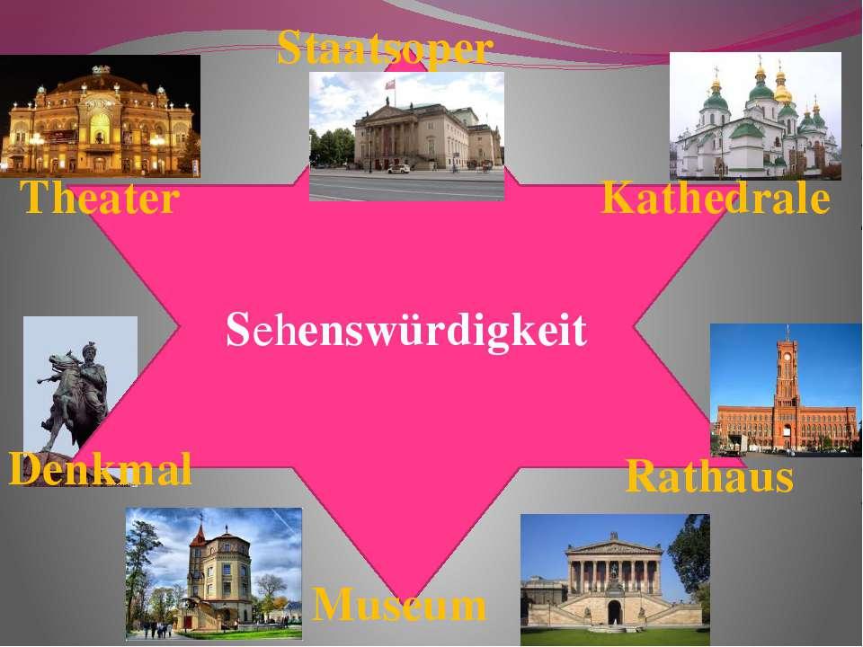 Sehenswürdigkeit Staatsoper Theater Kathedrale Denkmal Rathaus Museum