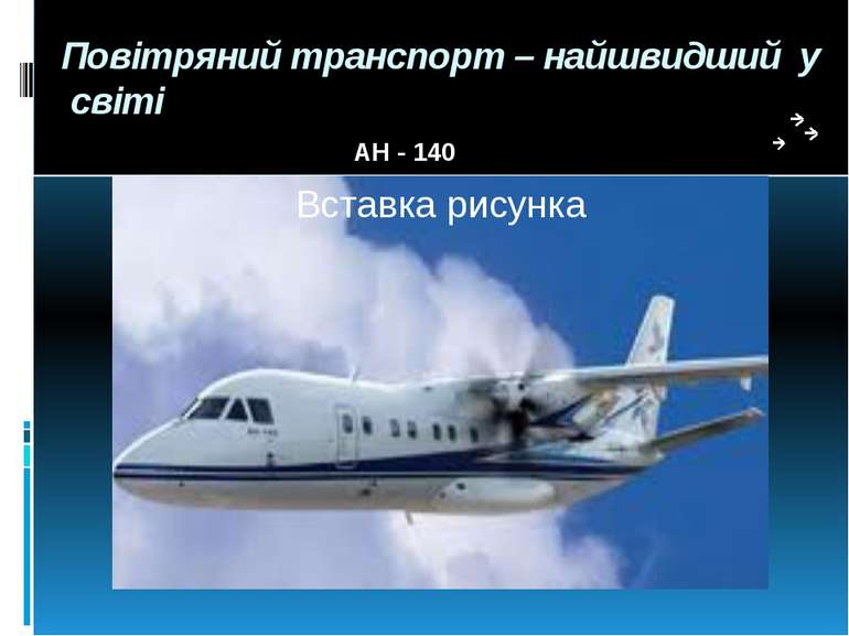 Повітряний транспорт – найшвидший у світі АН - 140