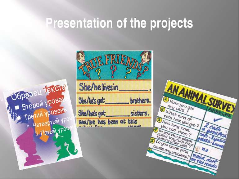 Presentation of the projects
