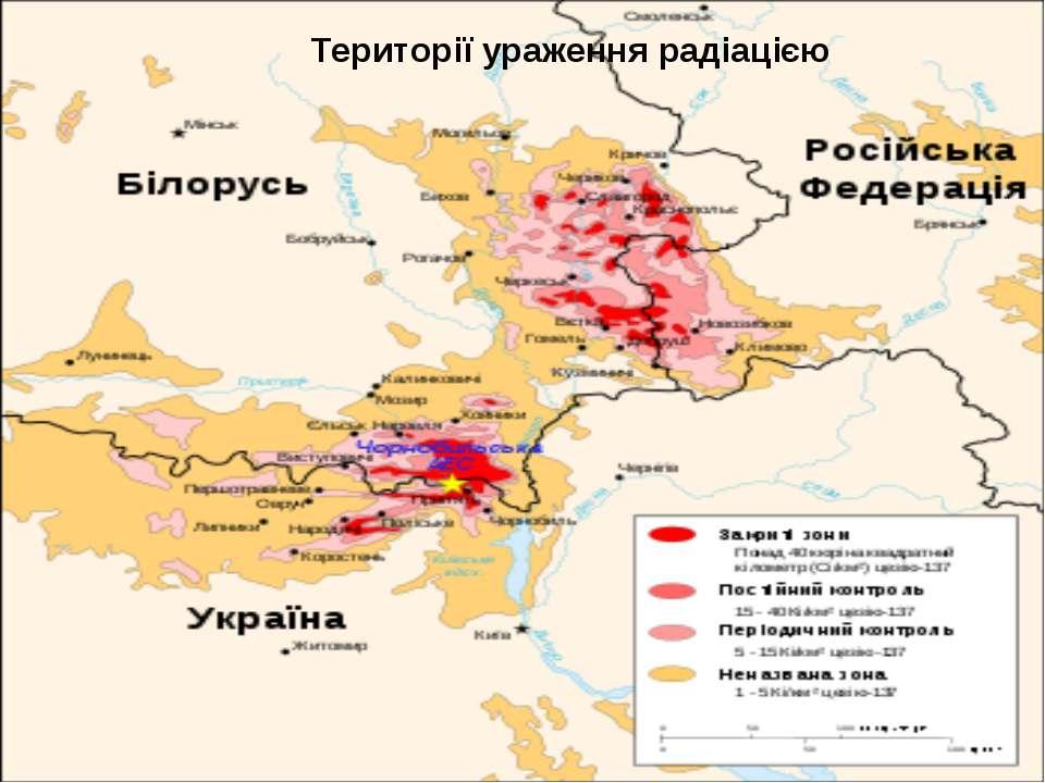 Території ураження радіацією