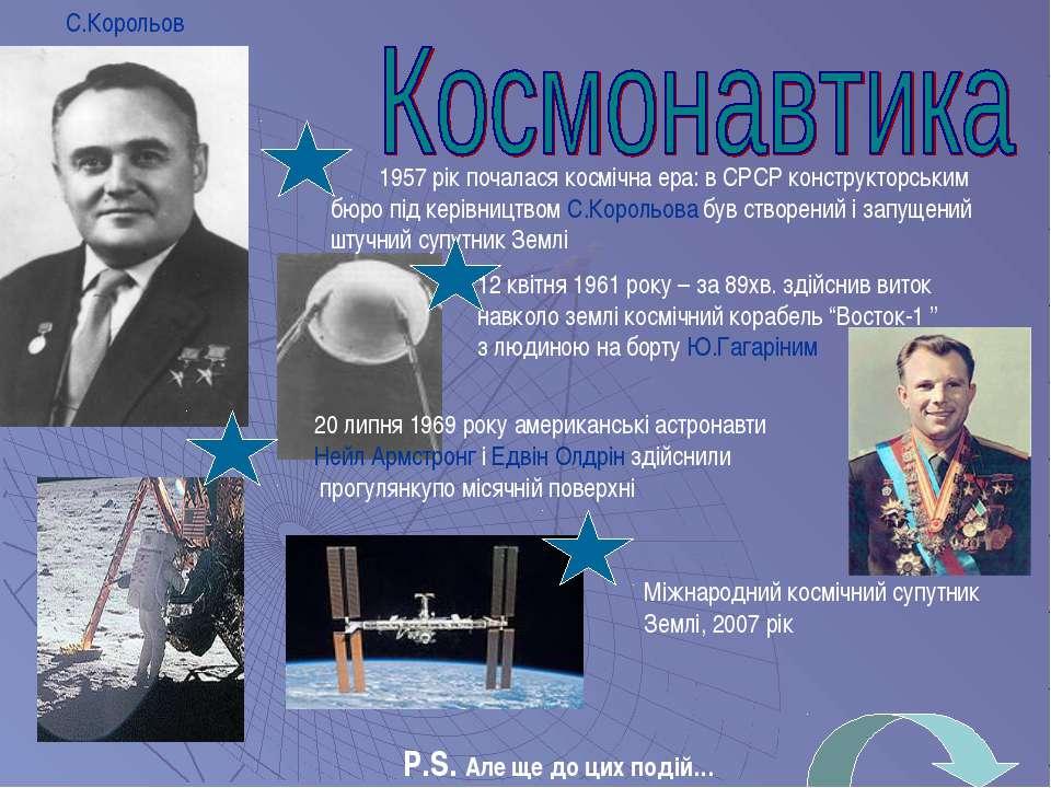 12 квітня 1961 року – за 89хв. здійснив виток навколо землі космічний корабел...