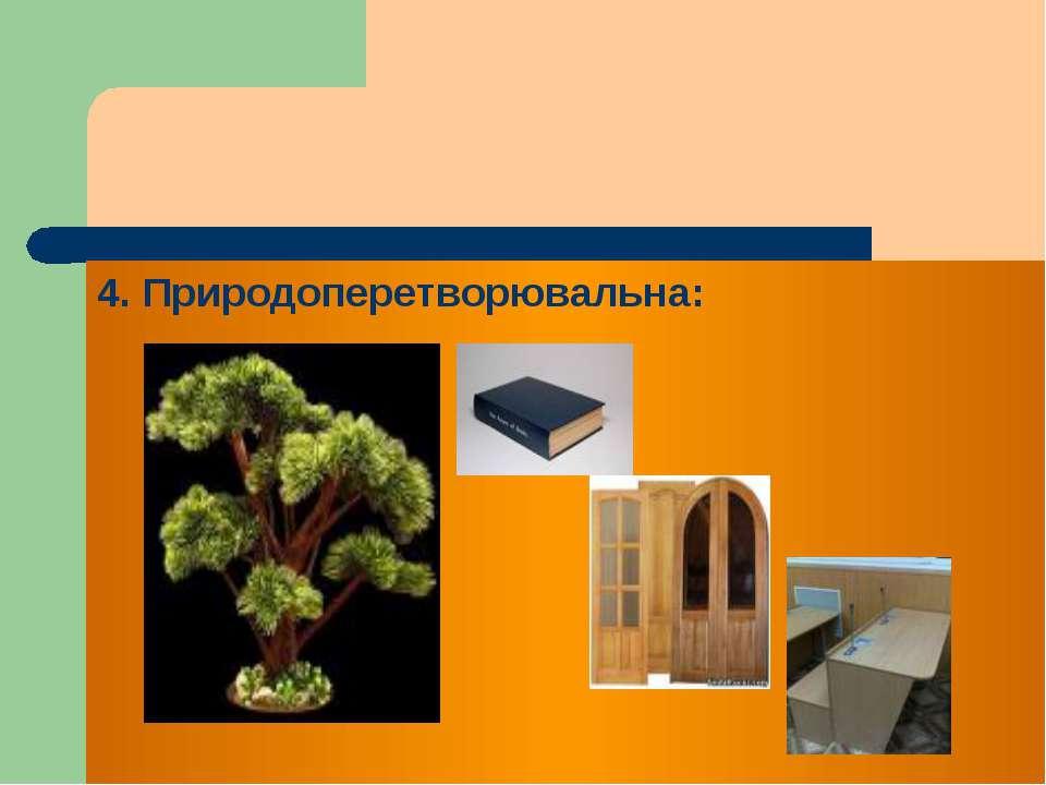 4. Природоперетворювальна: