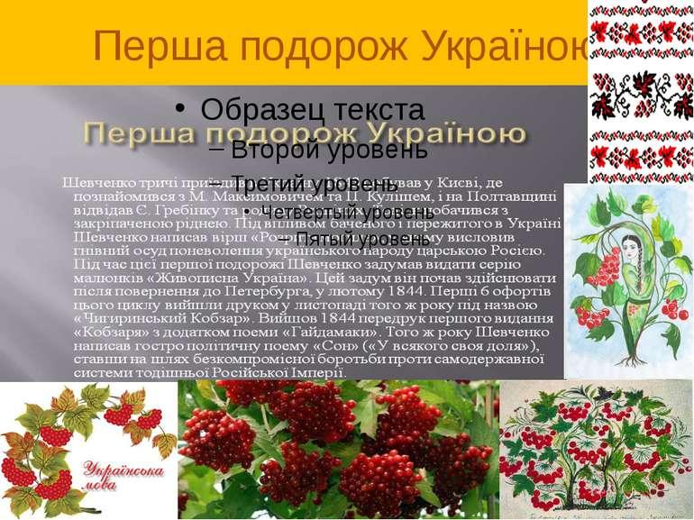 Перша подорож Україною