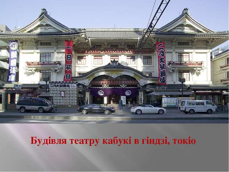 Будівля театру кабукі в гіндзі, токіо