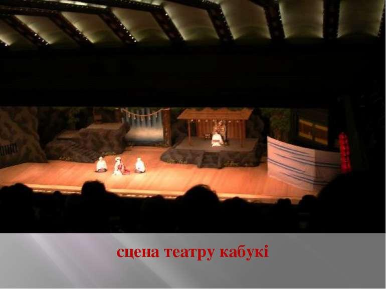 сцена театру кабукі