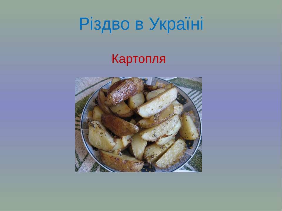 Різдво в Україні Картопля