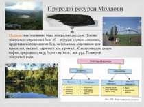 Природні ресурси Молдови Молдовамає порівняно бідні мінеральні ресурси. Осно...