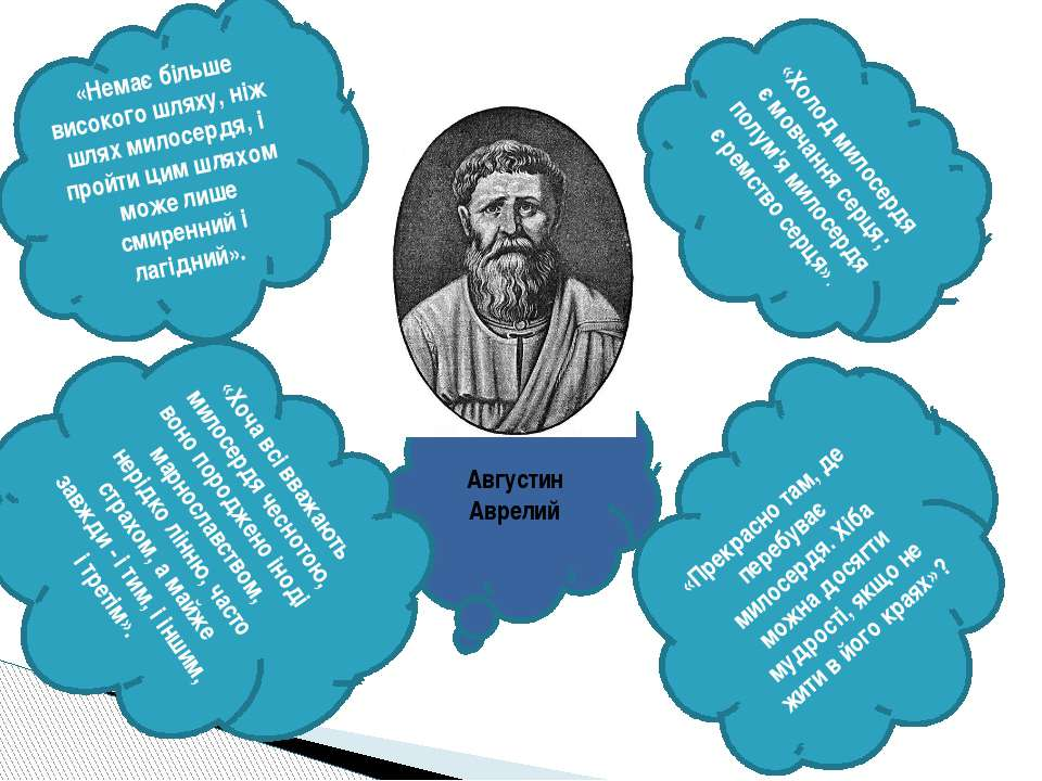 Августин Аврелий «Немає більше високого шляху, ніж шлях милосердя, і пройти ц...