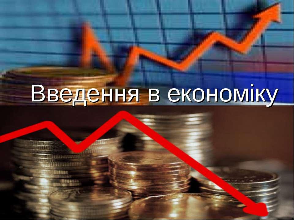 Введення в економіку