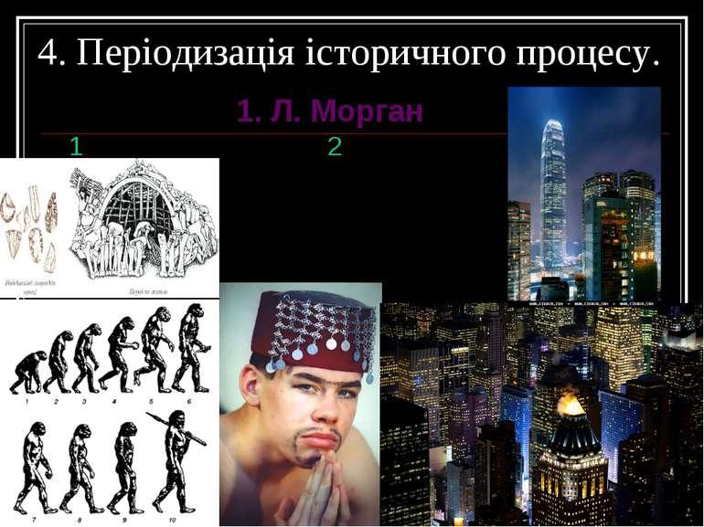 4. Періодизація історичного процесу. 1. Л. Морган 1 2 3