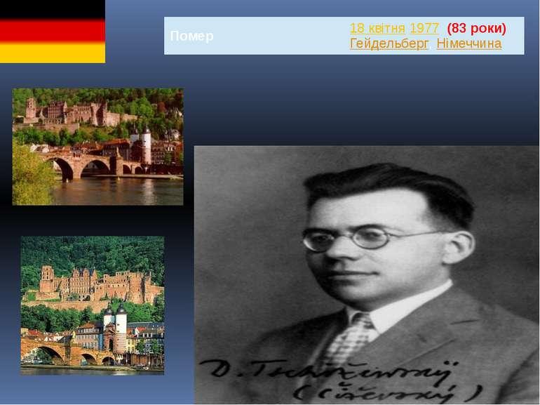 Помер 18квітня1977(83 роки) Гейдельберг,Німеччина