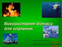 Використання біомаси для опалення. Виконав проект учень гр.№11 Гук Сергій Кер...