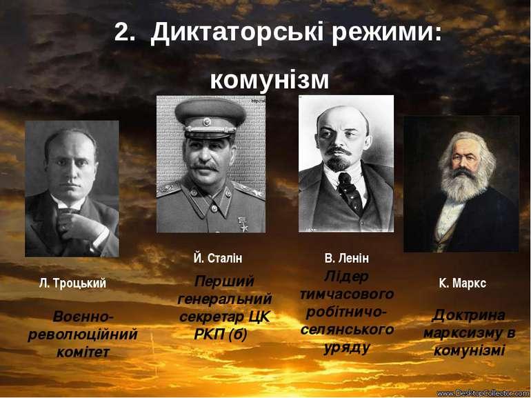 Перший генеральний секретар ЦК РКП (б) Воєнно-революційний комітет Лідер тимч...