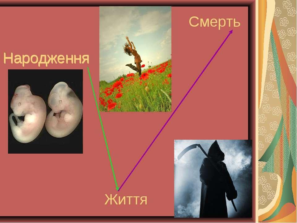 Народження Народження Життя Смерть