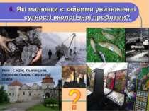 6. Які малюнки є зайвими увизначенні сутності екологічної проблеми? Унів - Св...