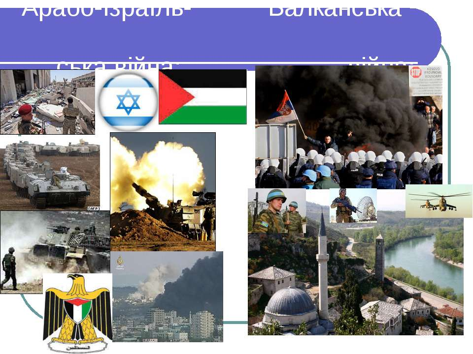 Арабо-Ізраїль- Балканська ська війна: війна: