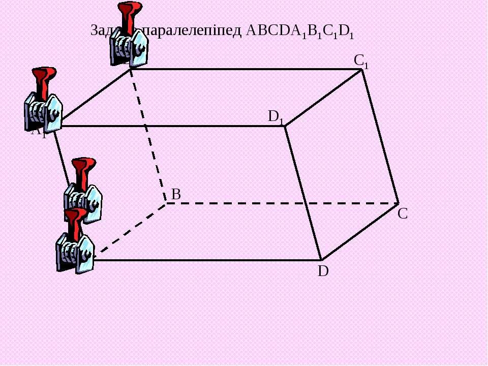 Задано паралелепіпед ABCDA1B1C1D1 А А1 В1 B D1 D С1 C