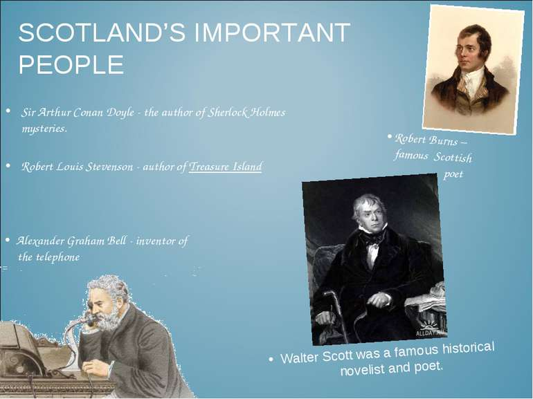 SCOTLAND'S IMPORTANT PEOPLE Sir Arthur Conan Doyle - the author of Sherlock H...