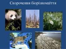 Скорочення біорізномаїття