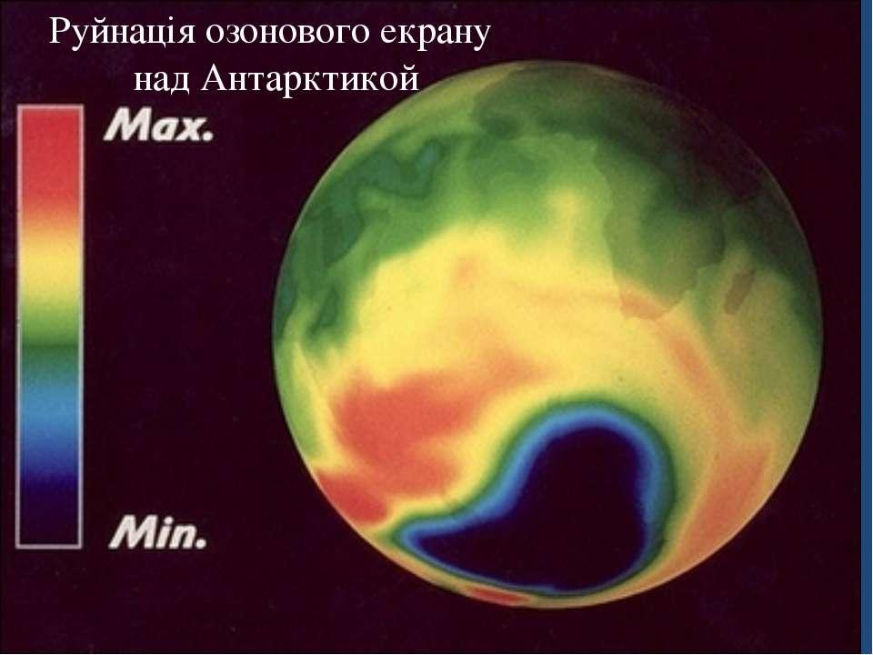Руйнація озонового екрану над Антарктикой