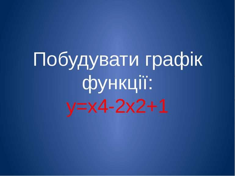 Побудувати графік функції: у=х4-2х2+1