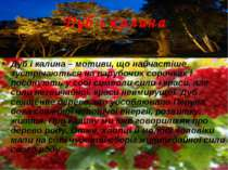Дуб і калина Дуб і калина – мотиви, що найчастіше зустрічаються на парубочих ...