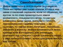 Самодиктант Добре живеться в селі в серпні та у вересні. Поля на горбах уже п...