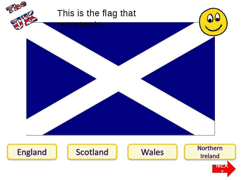 This is the flag that represents… : NEXT