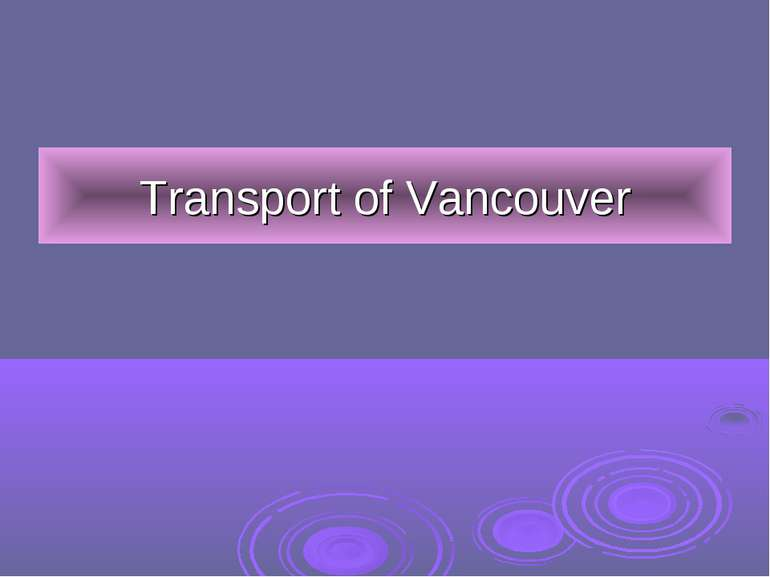 Transport of Vancouver