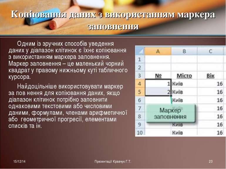 Одним із зручних способів уведення даних у діапазон клітинок є їхнє копіюванн...
