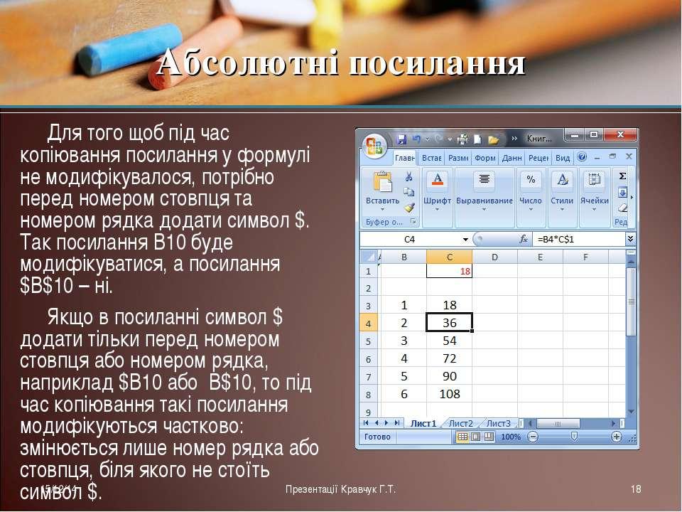 Для того щоб під час копіювання посилання у формулі не модифікувалося, потріб...