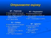 Отримаєте оцінку SP – Ремісник Орієнтований на процес Цініть : Відвагу, витри...