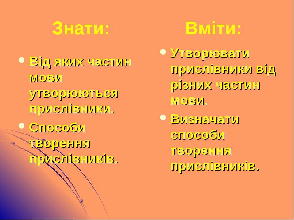 Від яких частин мови утворюються прислівники. Способи творення прислівників. ...