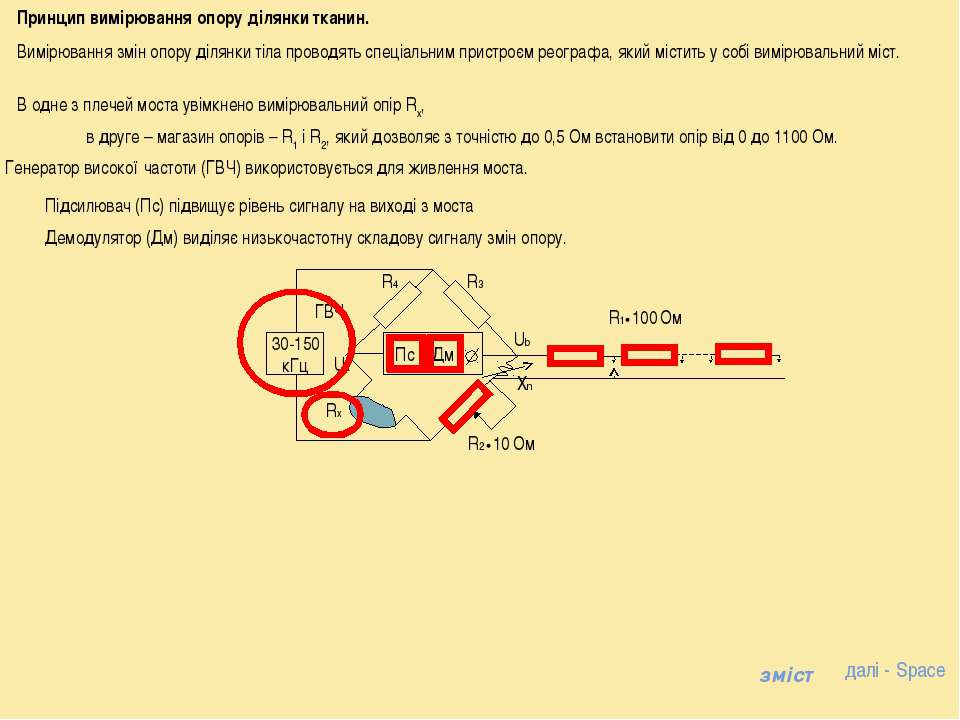 Генератор високої частоти (ГВЧ) використовується для живлення моста. Принцип ...