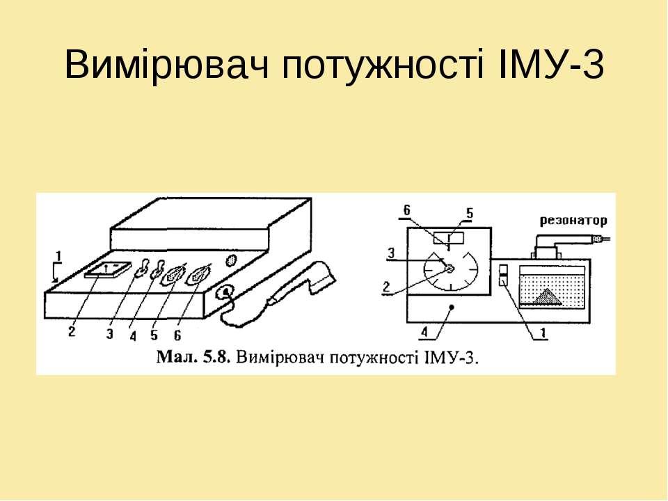 Вимірювач потужності ІМУ-3