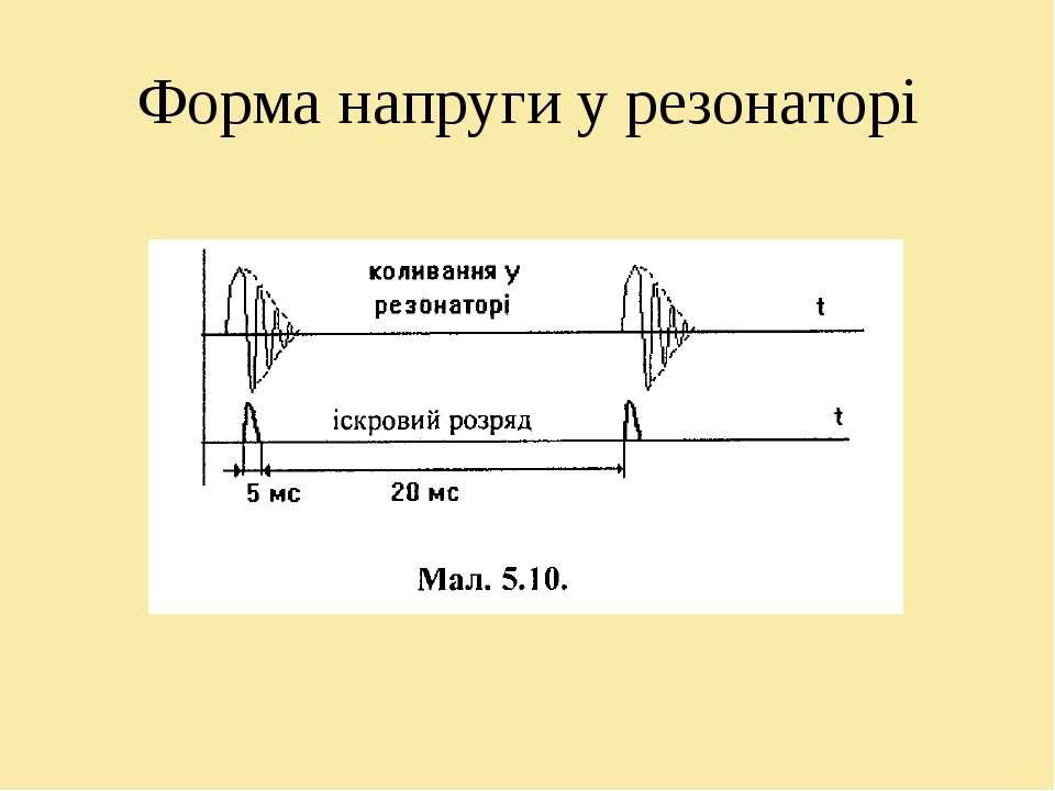 Форма напруги у резонаторі