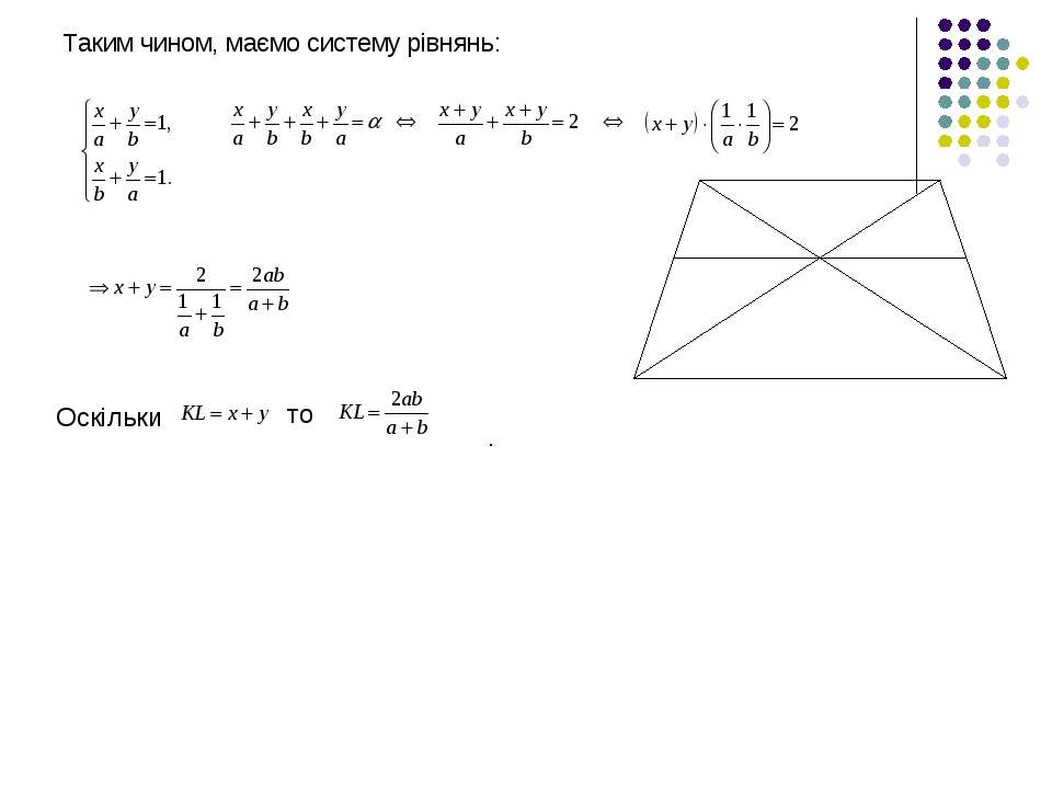 Таким чином, маємо систему рівнянь: Оскільки то .