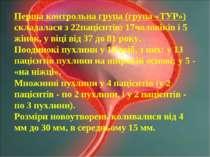 Перша контрольна група (група «ТУР») складалася з 22пацієнтів: 17чоловіків і ...