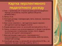 Картка перспективного педагогічного досвіду 1.Тема ( проблема). (Н: Створення...