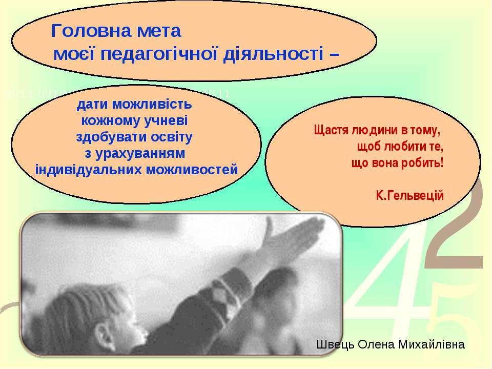 Щастя людини в тому, щоб любити те, що вона робить! К.Гельвецій дати можливіс...