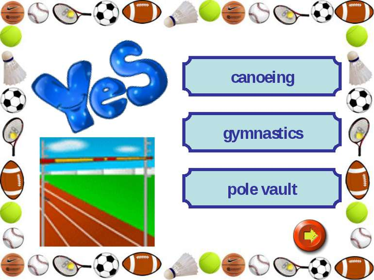 canoeing gymnastics pole vault
