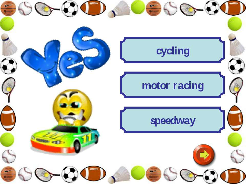 cycling speedway motor racing