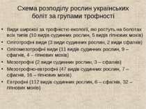 Схема розподілу рослин українських боліт за групами трофності Види широкої за...