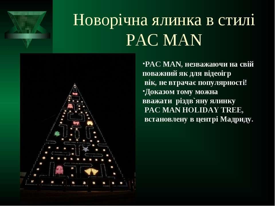 Новорічна ялинка в стилі PAC MAN PAC MAN, незважаючи на свій поважний як для ...