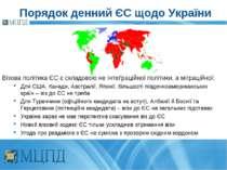 Порядок денний ЄС щодо України Візова політика ЄС є складовою не інтеґраційно...